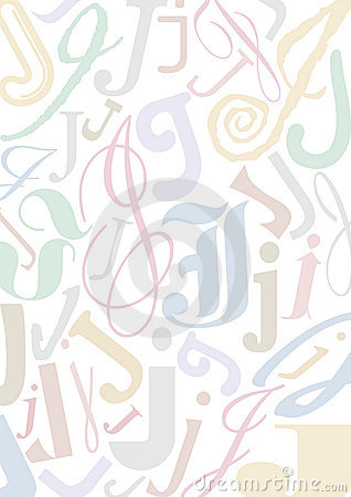 Pastell colored letter J