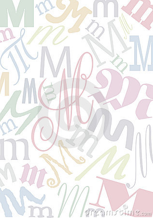 Pastell colored letter M