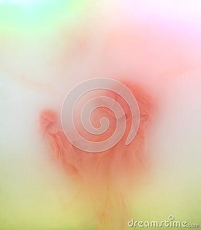 Pastels in fluid