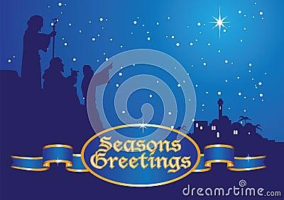 Pastores de los saludos de la Navidad