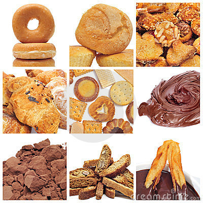 Pastries collage