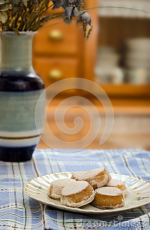 Pastries and Vase