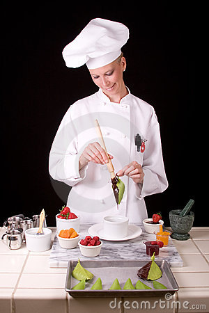 Pastry Chef with leaf