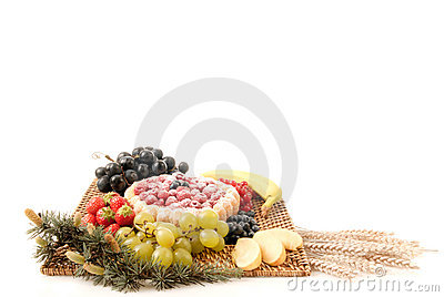 Pastry and fruit