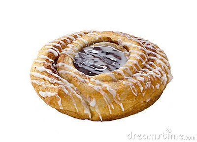 Pastry, isolated