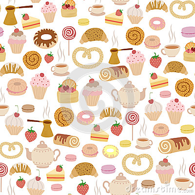 Free Pastry Pattern Royalty Free Stock Images - 25026459