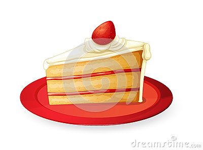 Pastry in red dish
