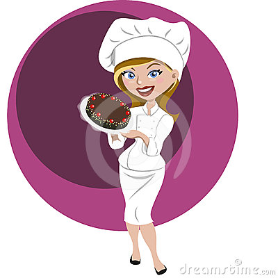 Pastry woman