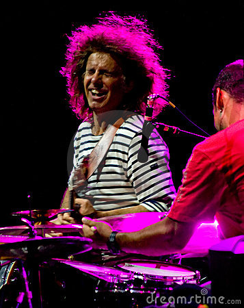 Pat Metheny and Antonio Sanchez at Umbria Jazz Editorial Stock Image