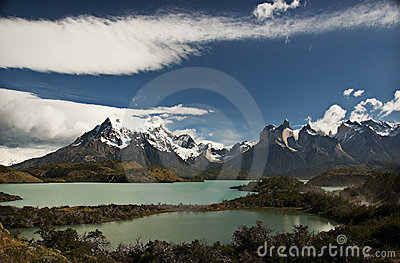 Patagonia Mountains and Lake, Chile
