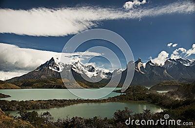 Patagonia Mountains and Lake, Chile