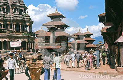 1975. Patan, Katmandu, Nepal. Editorial Photography