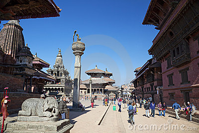 Patan Durbar Square, Nepal Editorial Stock Photo