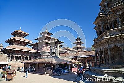 Patan Durbar Square, Nepal Editorial Stock Photo