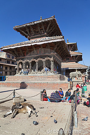 Patan Durbar Square, Nepal Editorial Photography