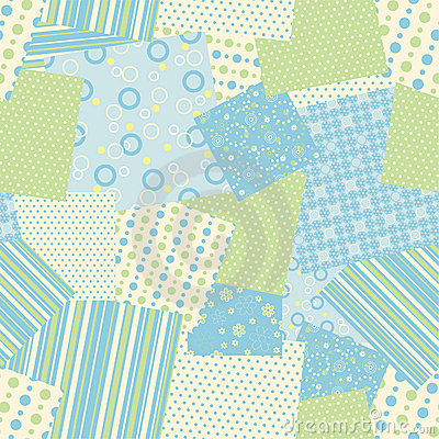 Patch seamless pattern. Vector