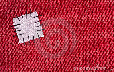 Patched cloth background