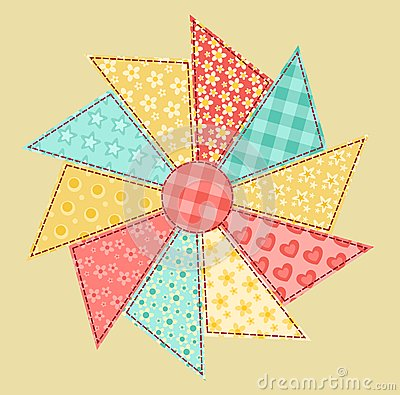 Patchwork abstract flower 1.