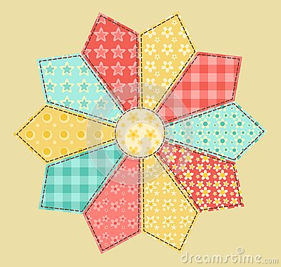 Patchwork abstract flower 2.