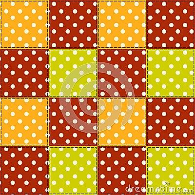 Patchwork autumn pattern 5.