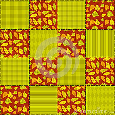 Patchwork autumn pattern 2.