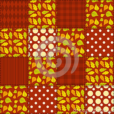 Patchwork autumn pattern 4.
