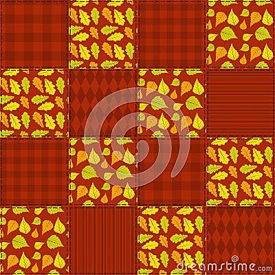 Patchwork autumn pattern 1.