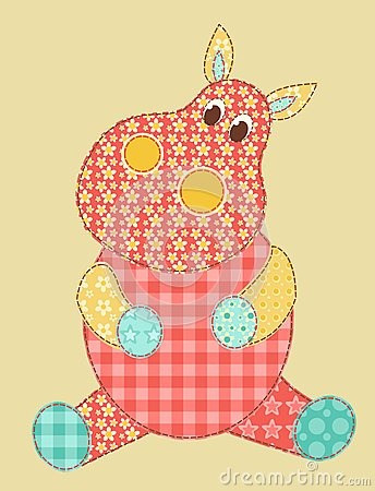 Patchwork d hippopotame