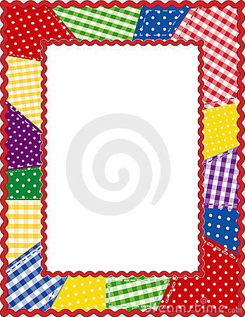 Free Patchwork Frame, Brights Royalty Free Stock Image - 5742116