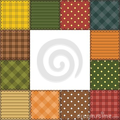patchwork frame with different patterns