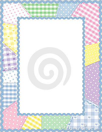 Free Patchwork Frame, Pastels Stock Photo - 5738130