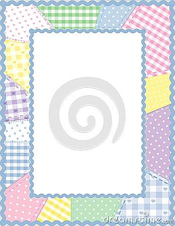 Patchwork Frame, Pastels