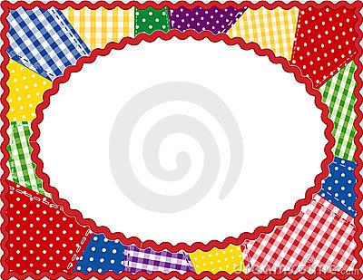 Patchwork Oval Frame, Brights