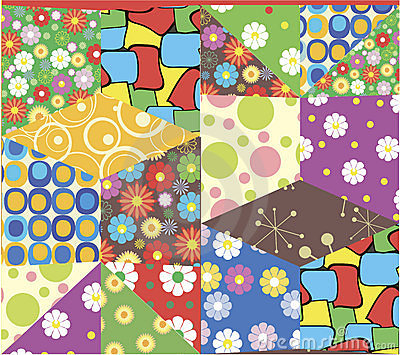 Patchwork pattern in vector