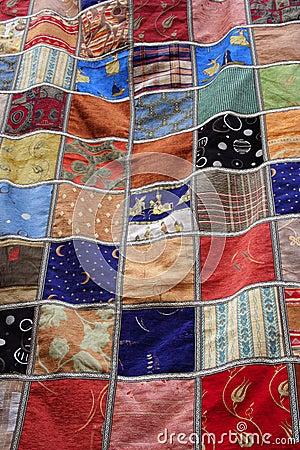 Patchwork quilt blanket