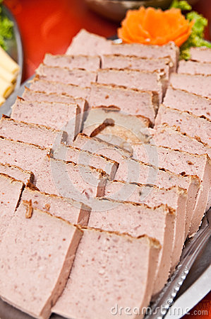 Pate on buffet table