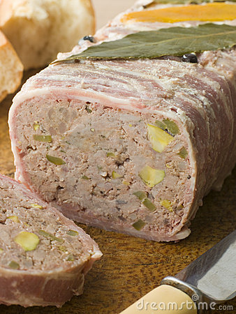 Pate Campagne on a Chopping Board with