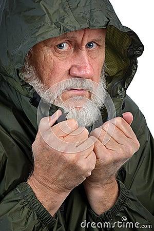 Patetisk pensionär för man