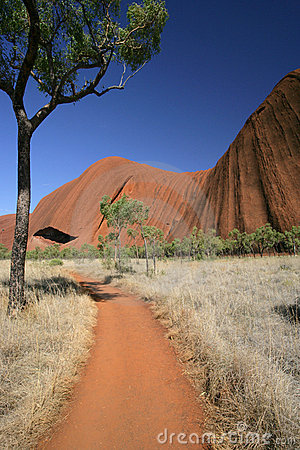 Path around Uluru (Ayers Rock) Editorial Photography