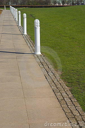 Path and Bollards