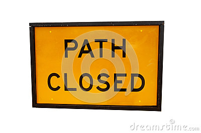 Path Closed Sign