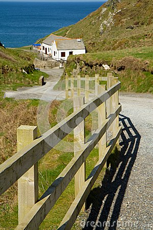 The path down to Tintagel beach and castle