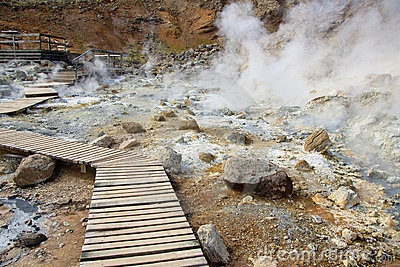 Path in geothermal area - Iceland
