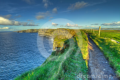 Path on Irish Cliffs of Moher