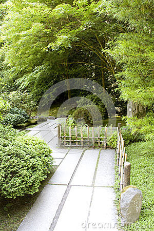 Path in Japanese garden