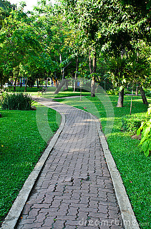 Path through the landscaped park