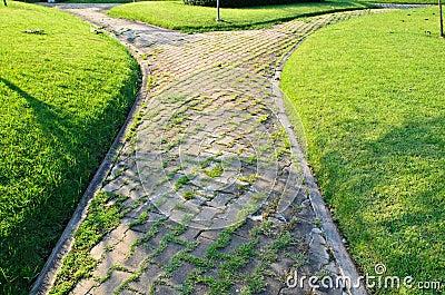 Path through the landscaped park