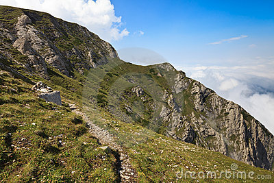 Path on a mountain slope