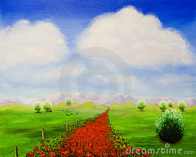 The path with poppies