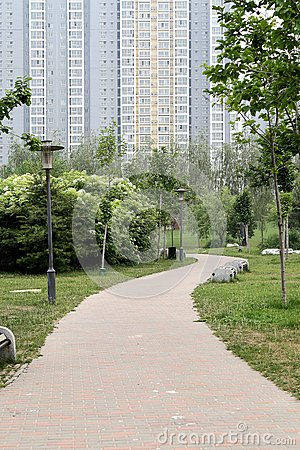 Path in the residential area